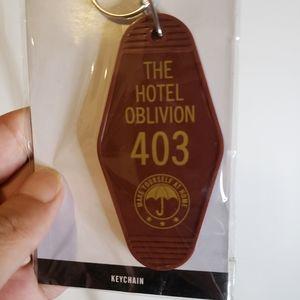 Umbrella academy keychain hotel oblivion 403